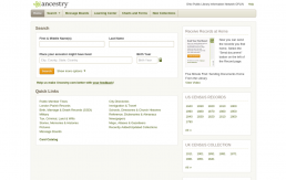 Ancestry Library screenshot