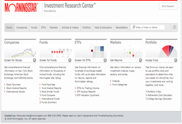 Morningstar Investments screenshot